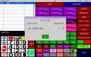 Uniwell4Cafes Coffee Card Loyalty screenshot Cafe POS