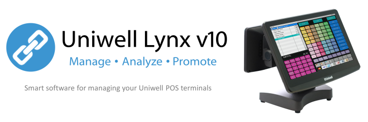 Uniwell Lynx back office management sales reports stock control customer management